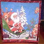 Decoratiune tablou de iarna cu servetel