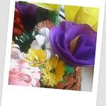 Cosulet cu flori din hârtie